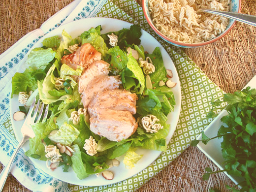 salads with chicken - Almost-Panera's Asian chicken salad