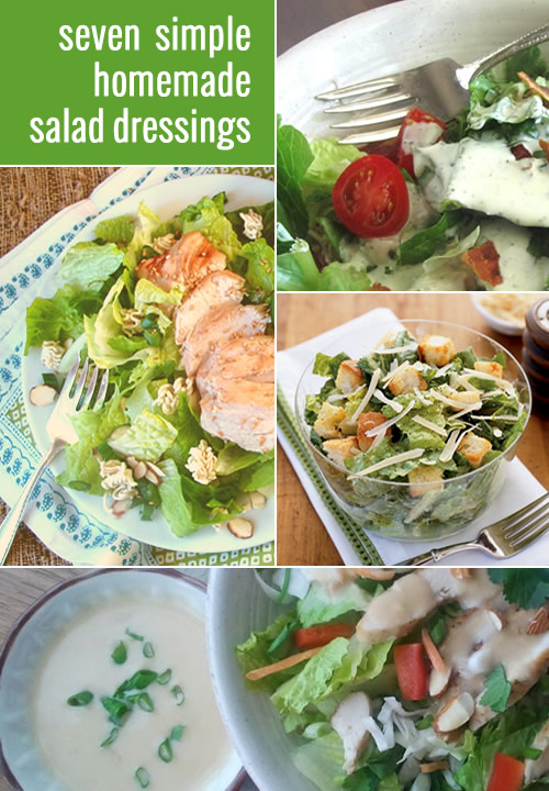 7 simple salad dressing recipes