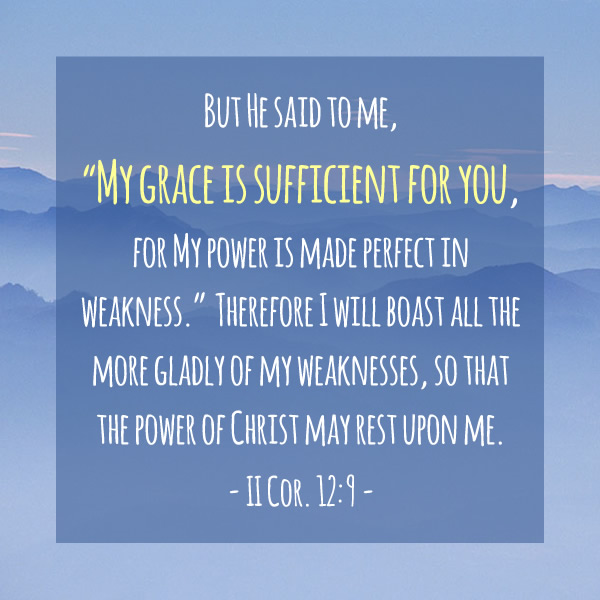 My grace is sufficient...