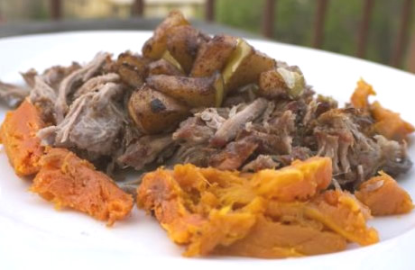 carnitas on sweet potato, by freetheanimal.com
