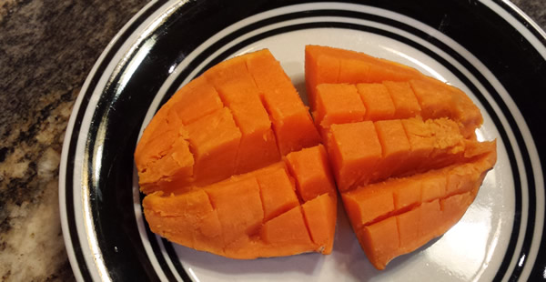 cubed roasted sweet potato - whole30, paleo