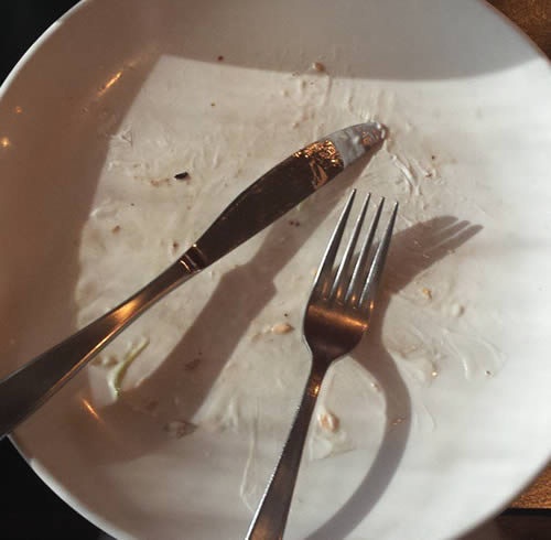 restaurant review; 715 - empty plate