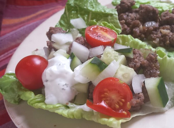 quick easy lunch: gyro wrap - paleo, gluten free