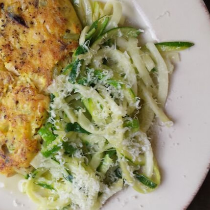 zoodles with parmesan