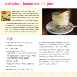 Sample recipe: sugar-free lemon icebox pie