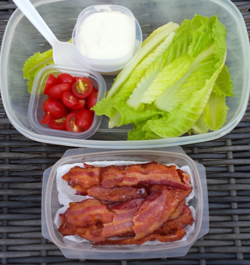 Paleo made easier - breadless BLT