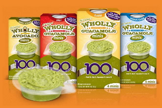for the grocery list; wholly guacamole minis
