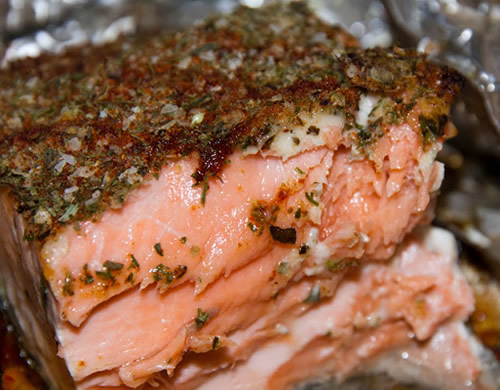 perfectly done salmon
