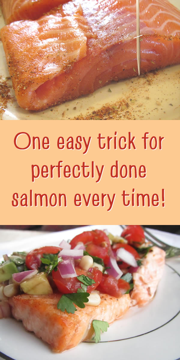 one easy trick for perfectly done salmon every time