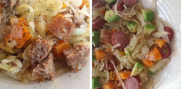 3-ingredient meal; sauerkraut
